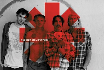 Poster Red hot chilli peppers - Red asterix