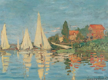 Regattas at Argenteuil Kunstdruk