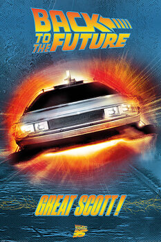 Póster Regreso al futuro - Great Scott