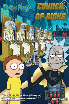 Póster  Rick and Morty - Council Of Ricks