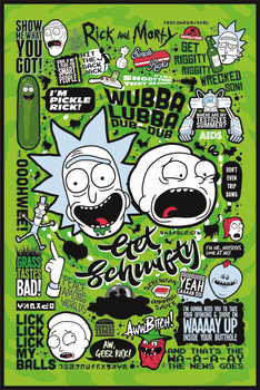 Póster  Rick and Morty - Quotes