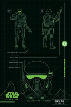 Rogue One: Star Wars Story - Death Trooper Plans Poster