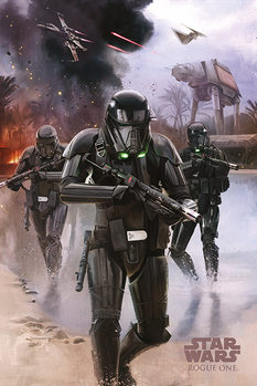 Póster Rogue One: Una Historia de Star Wars - Death Trooper Beach