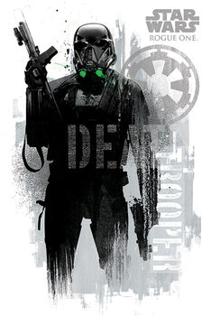 Póster Rogue One: Una Historia de Star Wars - Death Trooper Grunge