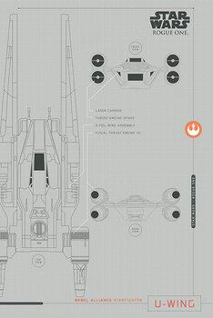 Póster Rogue One: Una Historia de Star Wars - U-Wing Plans