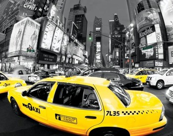 Poster Rush hour Times square