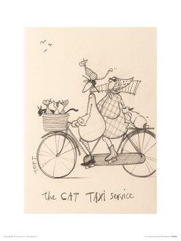 Sam Toft - The Cat Taxi Service Kunstdruk