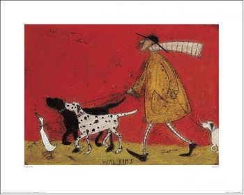 Sam Toft - Walkies Kunstdruk