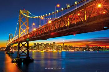 Poster San Francisco - bay bridge