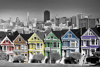 Poster San Francisco - Rainbow Row