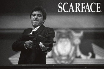 Póster Scarface - b&w