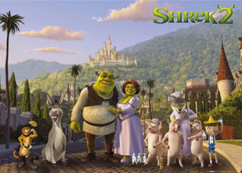 Poster SHREK 2 -  cast