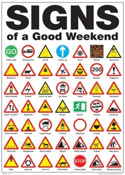 Poster Signs of the good weekend