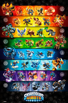 Poster Skylanders Giants - stats