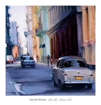 Slow Ride - Havana, Cuba Kunstdruk