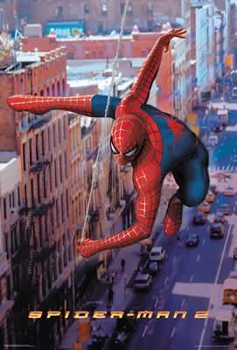 Poster Spiderman 2 - Spiderman Swinging