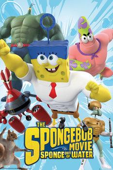 SpongeBob: Spons op het droge - Characters Poster