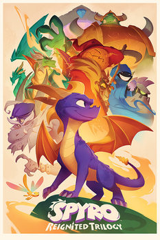 Spyro - Animated Style Poster