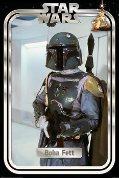 Poster Star Wars - Boba Fett Retro Packaging