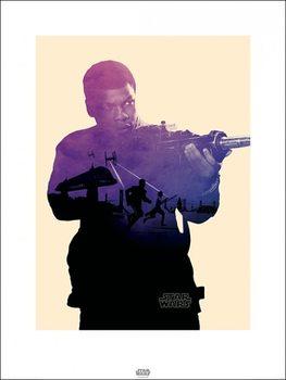 Star Wars Episode VII: The Force Awakens - Finn Tri Kunstdruk