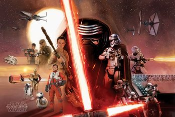 Póster Star Wars Episode VII: The Force Awakens - Galaxy