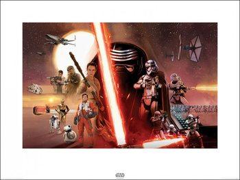 Star Wars Episode VII: The Force Awakens - Galaxy Kunstdruk