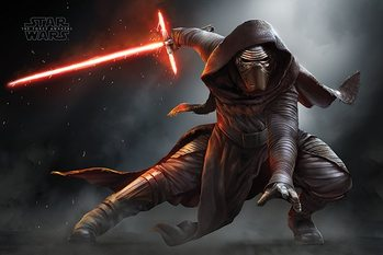 Star Wars Episode VII: The Force Awakens - Kylo Ren Crouch Poster / Kunst Poster