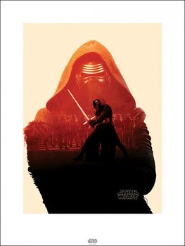 Star Wars Episode VII: The Force Awakens - Kylo Ren Tri Kunstdruk