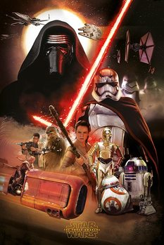 Póster Star Wars Episode VII: The Force Awakens - Montage