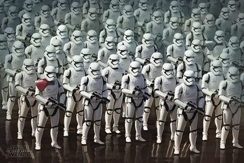 Póster Star Wars Episode VII: The Force Awakens - Stormtrooper Army