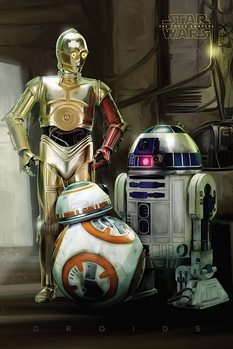 Poster Star Wars, Episodio VII : Il risveglio della Forza - Droids