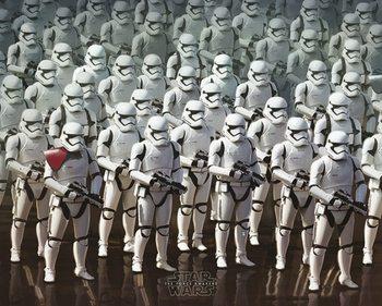 Poster Star Wars, Episodio VII : Il risveglio della Forza - Stormtrooper Army