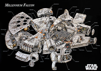 Poster Star Wars - Millenium Falcon