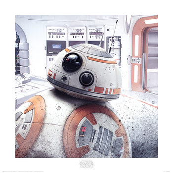 Star Wars: The Last Jedi - BB-8 Peek Kunstdruk