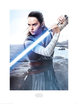 Star Wars: The Last Jedi - Rey Engage Kunstdruk