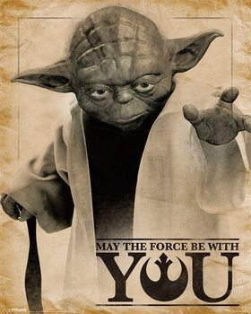 Poster Star Wars – Yoda May The Force Be With You