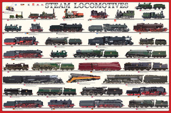 Póster  Steam locomotives