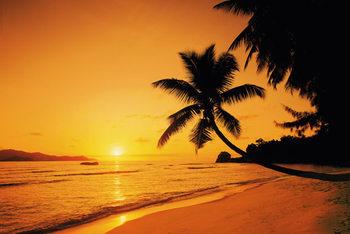 Poster Sunset island