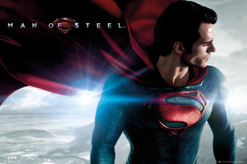 Poster  SUPERMAN MAN OF STEEL - cape