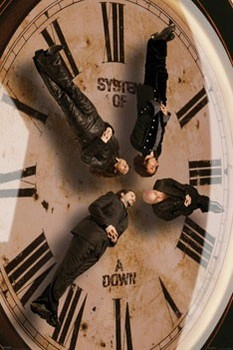 Poster System of a Down - clock