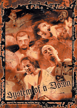 Poster System of a Down Splatter