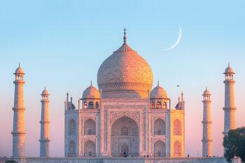 Poster Taj Mahal - Sunset