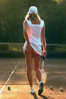 Póster Tennis Girl