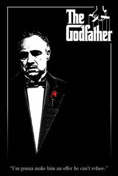 THE GODFATHER - red rose Poster
