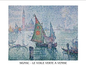 The Green Sail, Venice, 1902 Kunstdruk