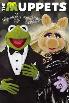 Poster  THE MUPPETS - kermit&piggy