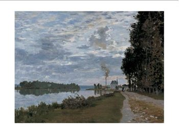 The Promenade at Argenteuil Kunstdruk