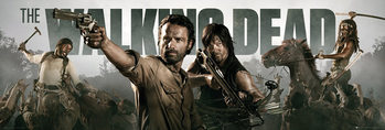 THE WALKING DEAD - Banner Poster / Kunst Poster