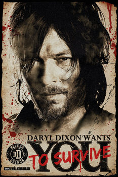 Póster  The Walking Dead - Daryl Needs You
