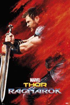 Póster  Thor: Ragnarok - Thor Red Dust